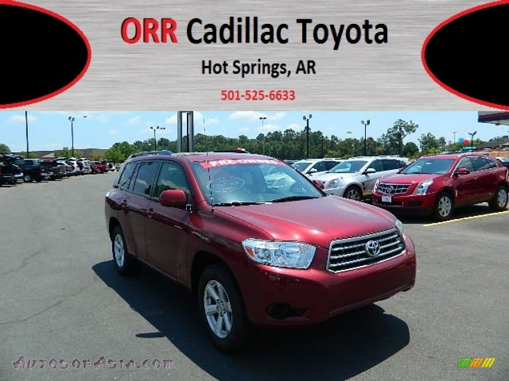 2008 toyota highlander in salsa red pearl 005118 autos of asia japanese and korean cars. Black Bedroom Furniture Sets. Home Design Ideas