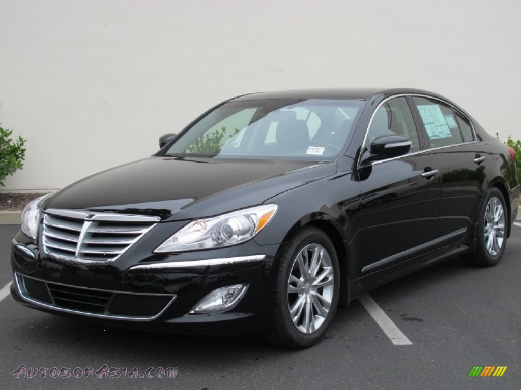 2012 hyundai genesis 4 6 sedan in black noir pearl 191360 autos of asia japanese and. Black Bedroom Furniture Sets. Home Design Ideas
