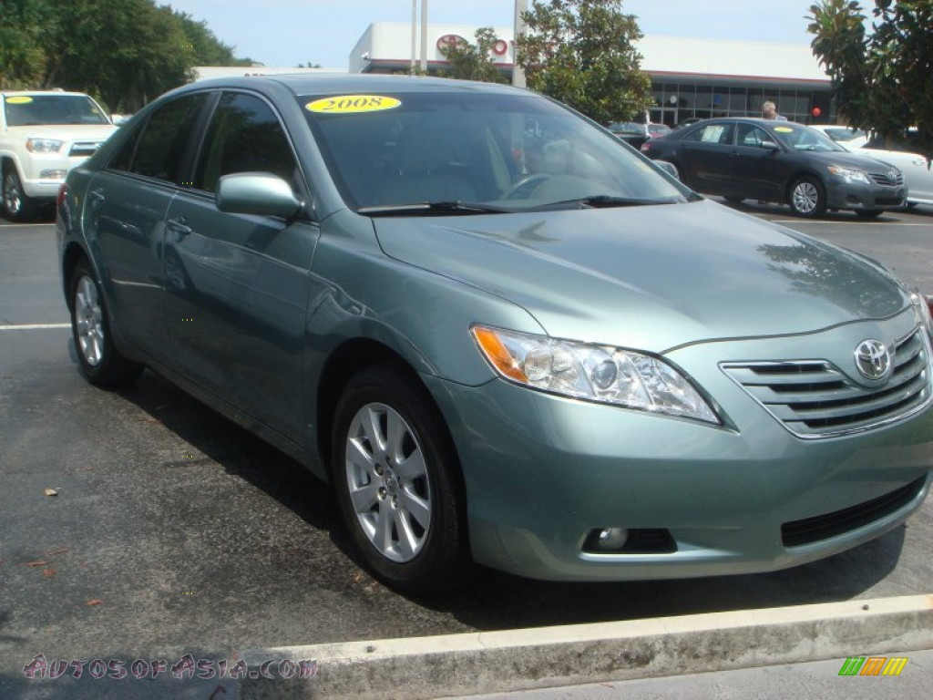 2008 toyota camry xle v6 in aloe green metallic 565667 autos of asia japanese and korean. Black Bedroom Furniture Sets. Home Design Ideas