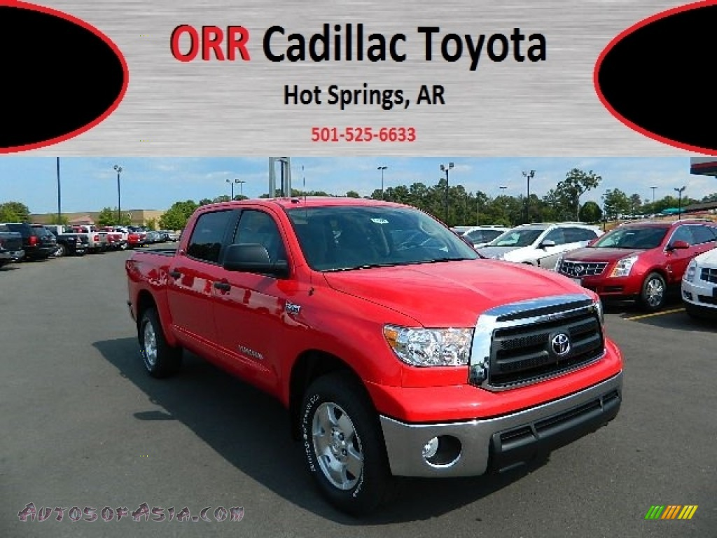 2012 toyota tundra trd crewmax 4x4 in radiant red 257889 autos of asia japanese and korean. Black Bedroom Furniture Sets. Home Design Ideas