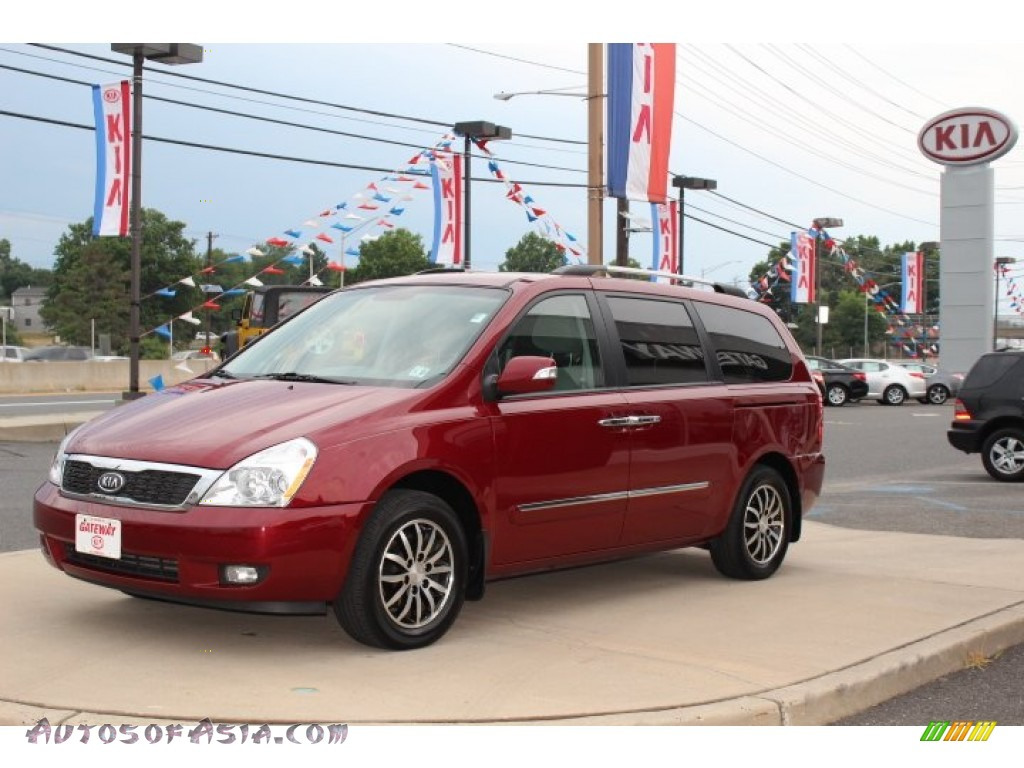 2012 Kia Sedona Ex In Claret Red 435777 Autos Of Asia