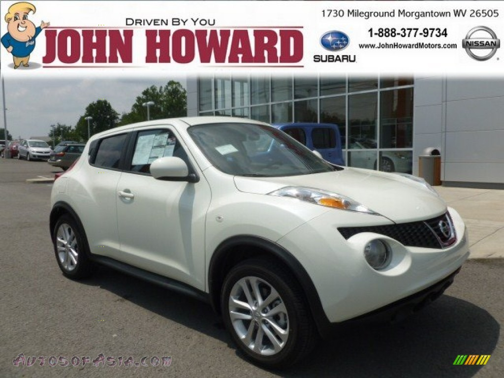2012 nissan juke sv awd in white pearl 124916 autos of for Mileground motors in morgantown wv