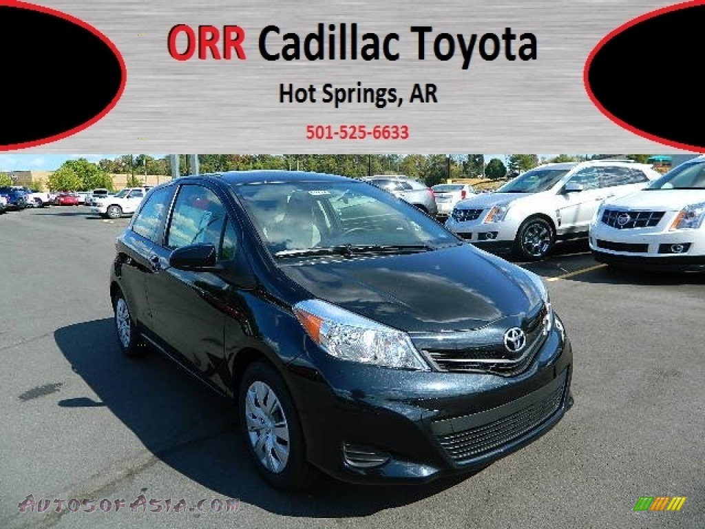 2012 toyota yaris l 3 door in black sand pearl 535745 autos of asia japanese and korean. Black Bedroom Furniture Sets. Home Design Ideas