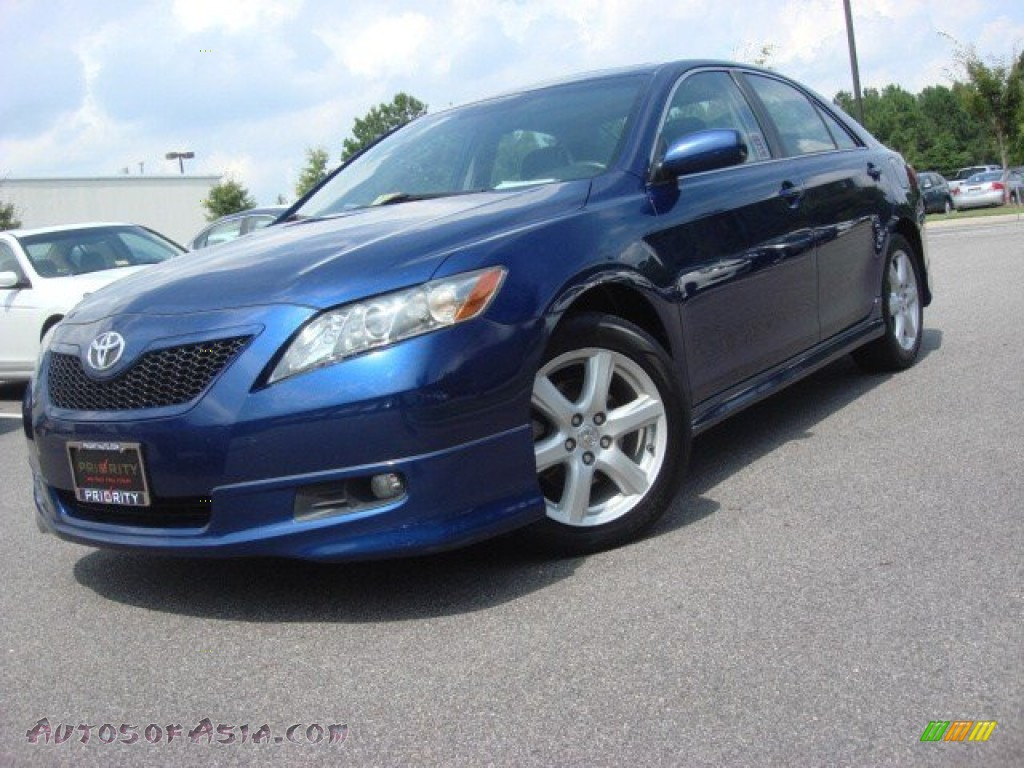 2007 toyota camry se v6 in blue ribbon metallic 042790 autos of asia japanese and korean. Black Bedroom Furniture Sets. Home Design Ideas