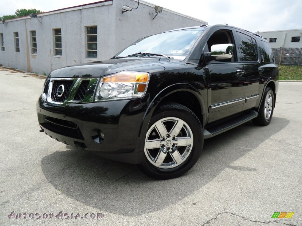 2010 nissan armada platinum 4wd in galaxy black metallic 618176 autos of asia japanese and. Black Bedroom Furniture Sets. Home Design Ideas
