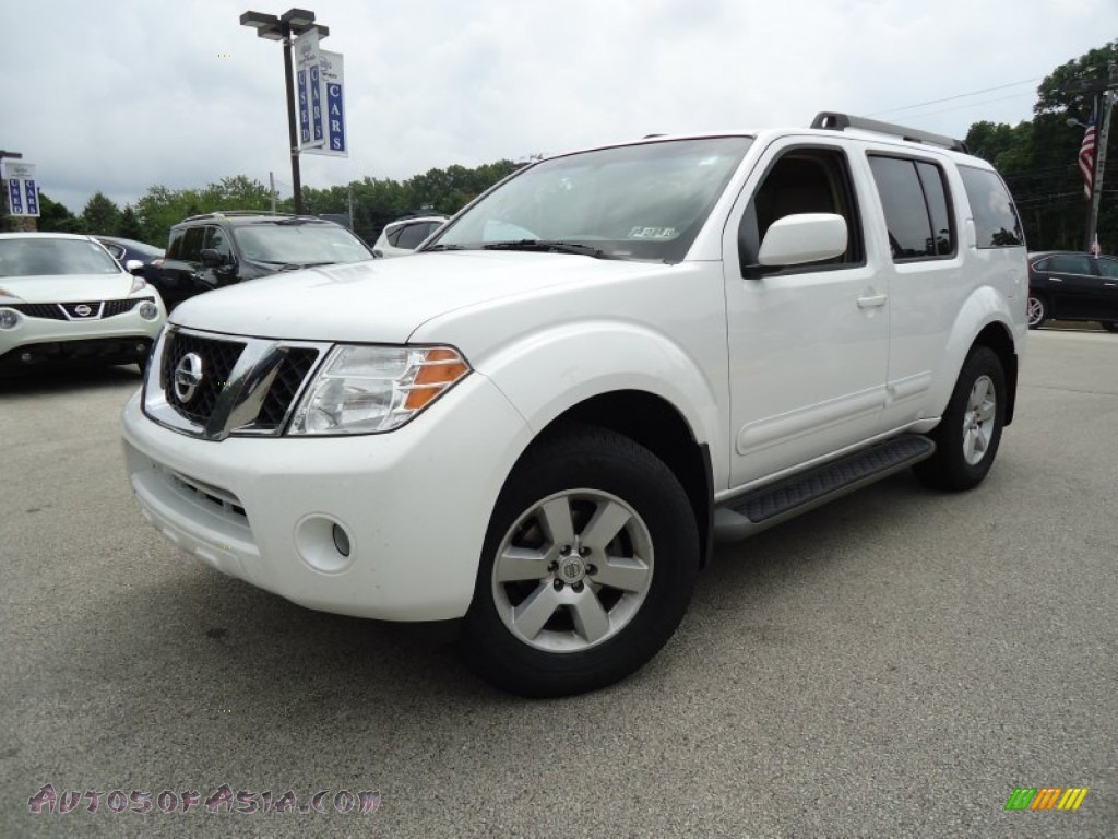 2009 nissan pathfinder se 4x4 in white frost 611695 autos of asia japanese and korean cars. Black Bedroom Furniture Sets. Home Design Ideas