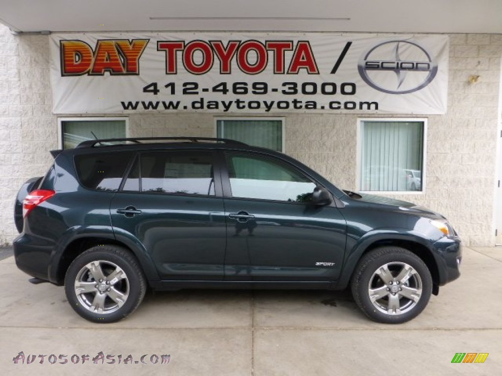 2012 Toyota Rav4 Sport 4wd In Black Forest Pearl 235776