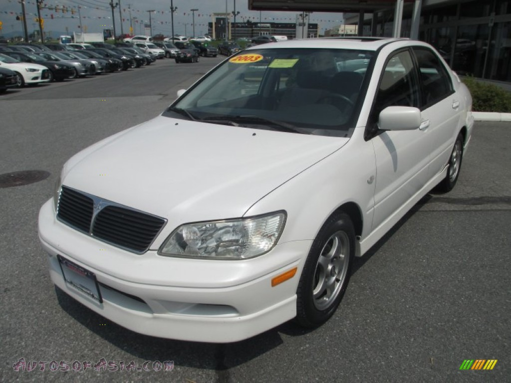 2003 mitsubishi lancer oz rally in diamond white pearl 028414 autos of asia japanese and. Black Bedroom Furniture Sets. Home Design Ideas