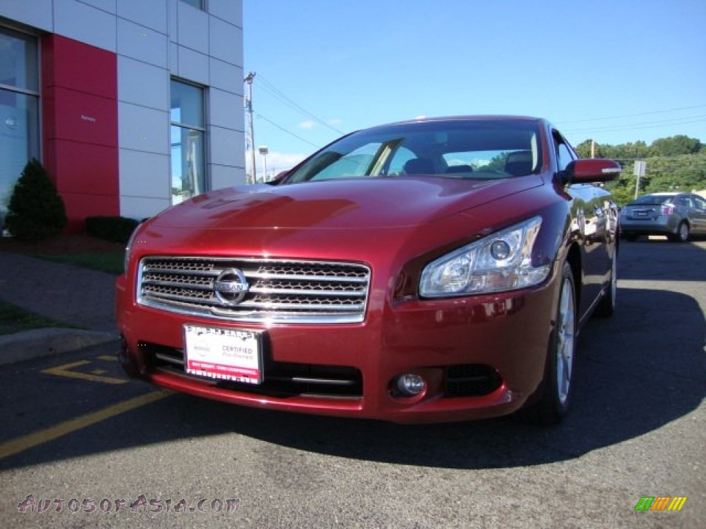2010 Nissan Maxima 3 5 Sv In Tuscan Sun Red 834593
