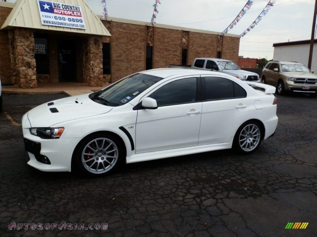 2010 mitsubishi lancer evolution gsr in wicked white 009225 autos of asia japanese and. Black Bedroom Furniture Sets. Home Design Ideas