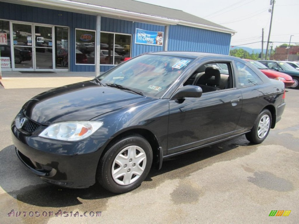 2005 honda civic value package coupe in nighthawk black pearl 079914 autos of asia. Black Bedroom Furniture Sets. Home Design Ideas