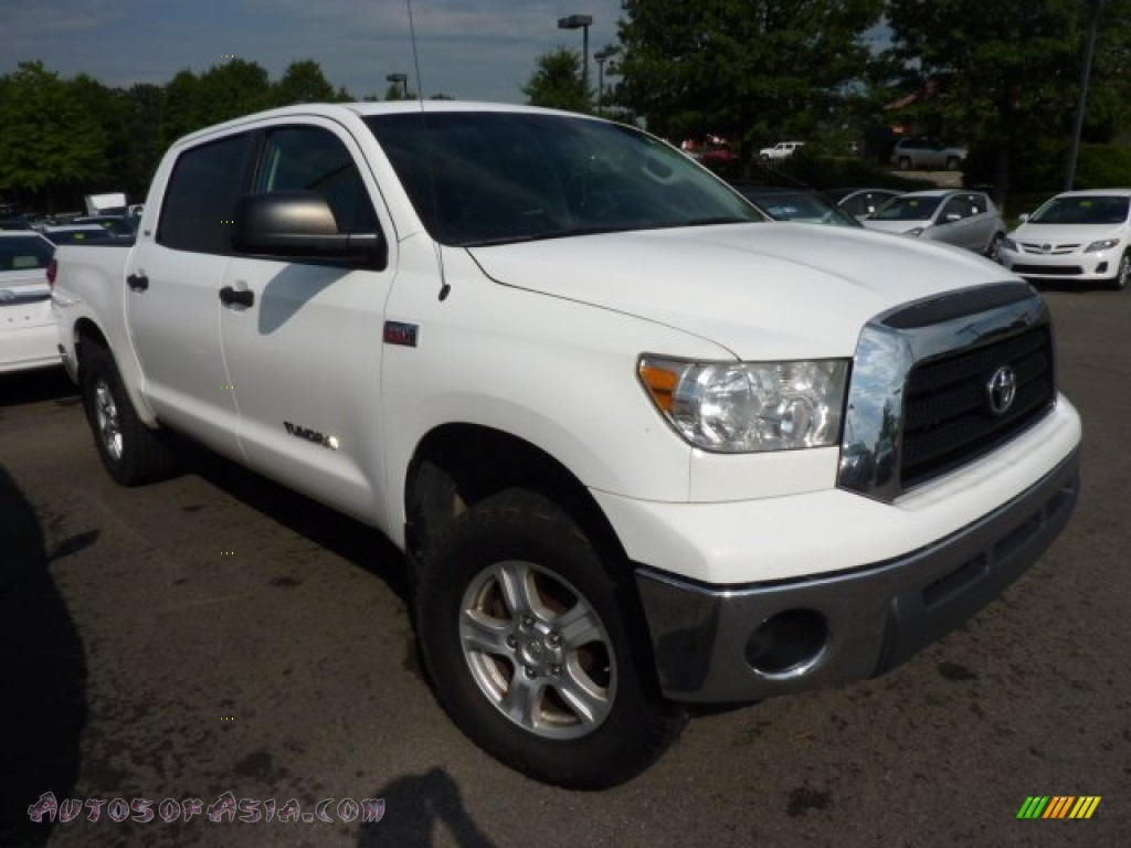 2007 toyota tundra sr5 crewmax 4x4 in super white 468275 autos of asia japanese and korean. Black Bedroom Furniture Sets. Home Design Ideas