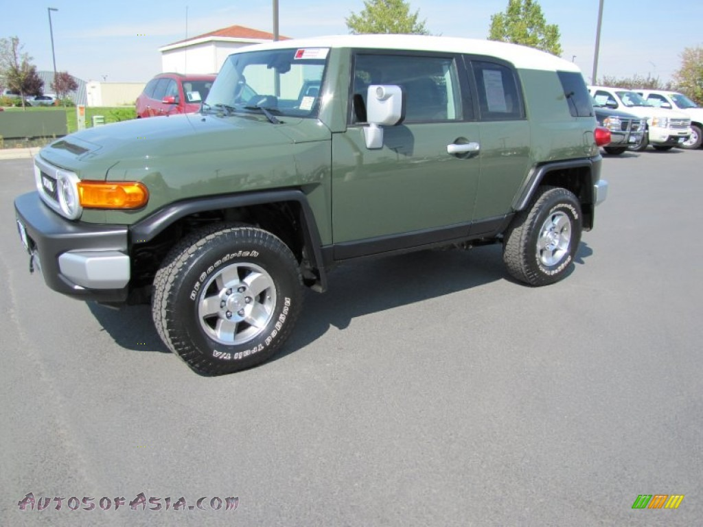 2010 Toyota Fj Cruiser 4wd In Army Green 074021 Autos