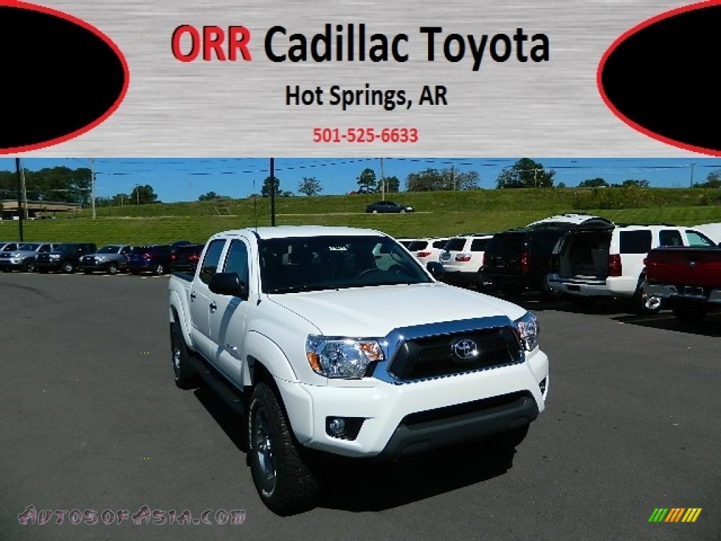 2013 toyota tacoma v6 tss prerunner double cab in super white photo 2 029607 autos of asia. Black Bedroom Furniture Sets. Home Design Ideas