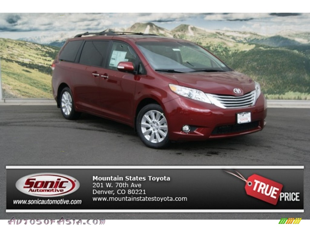 2013 toyota sienna limited awd in salsa red pearl 049890. Black Bedroom Furniture Sets. Home Design Ideas