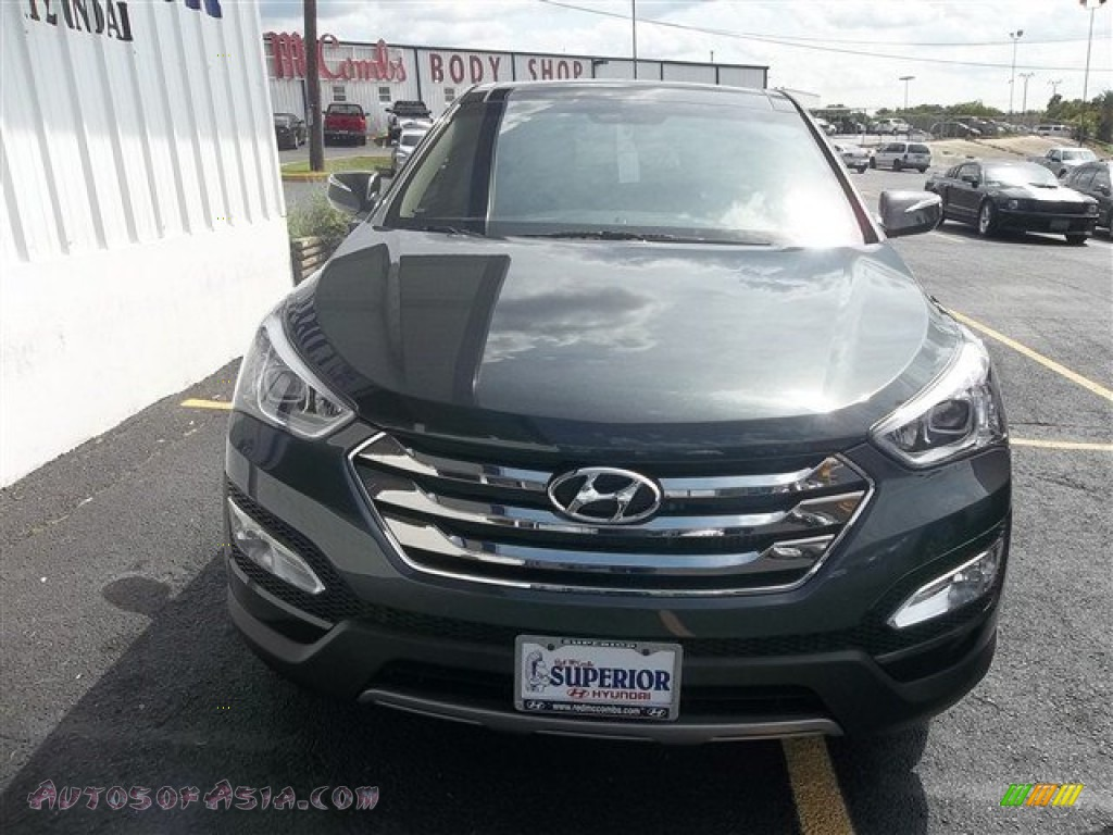 2013 hyundai santa fe sport 2 0t in juniper green 009403 autos of asia japanese and korean. Black Bedroom Furniture Sets. Home Design Ideas