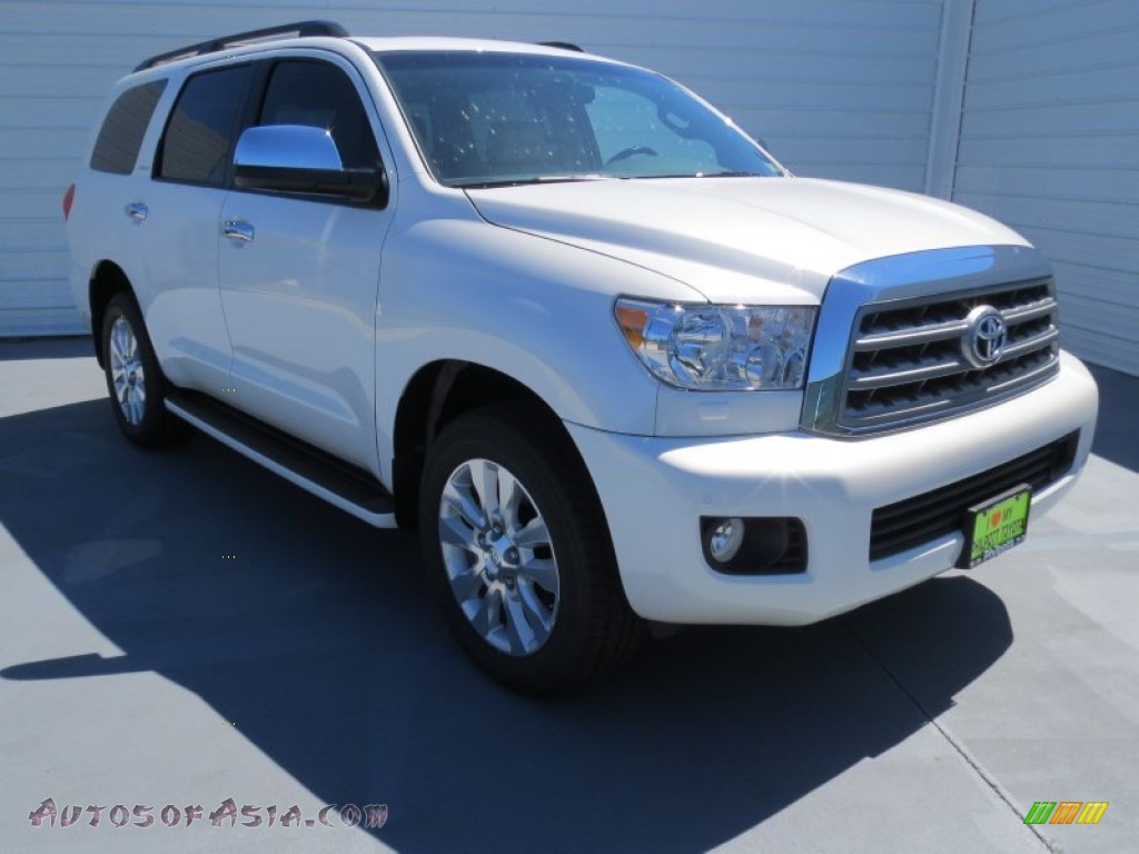 2012 toyota sequoia platinum in blizzard white pearl 042974 autos of asia japanese and. Black Bedroom Furniture Sets. Home Design Ideas