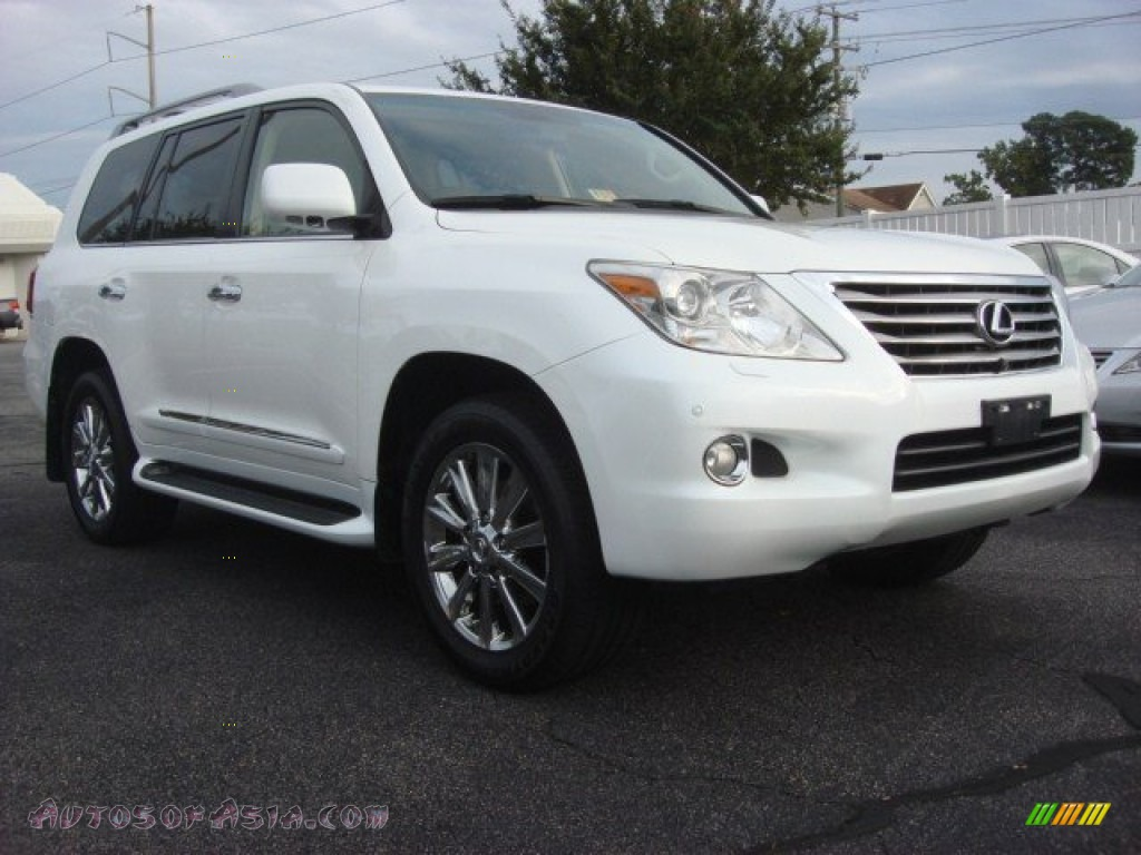 2009 lexus lx 570 in starfire white pearl 028678 autos. Black Bedroom Furniture Sets. Home Design Ideas