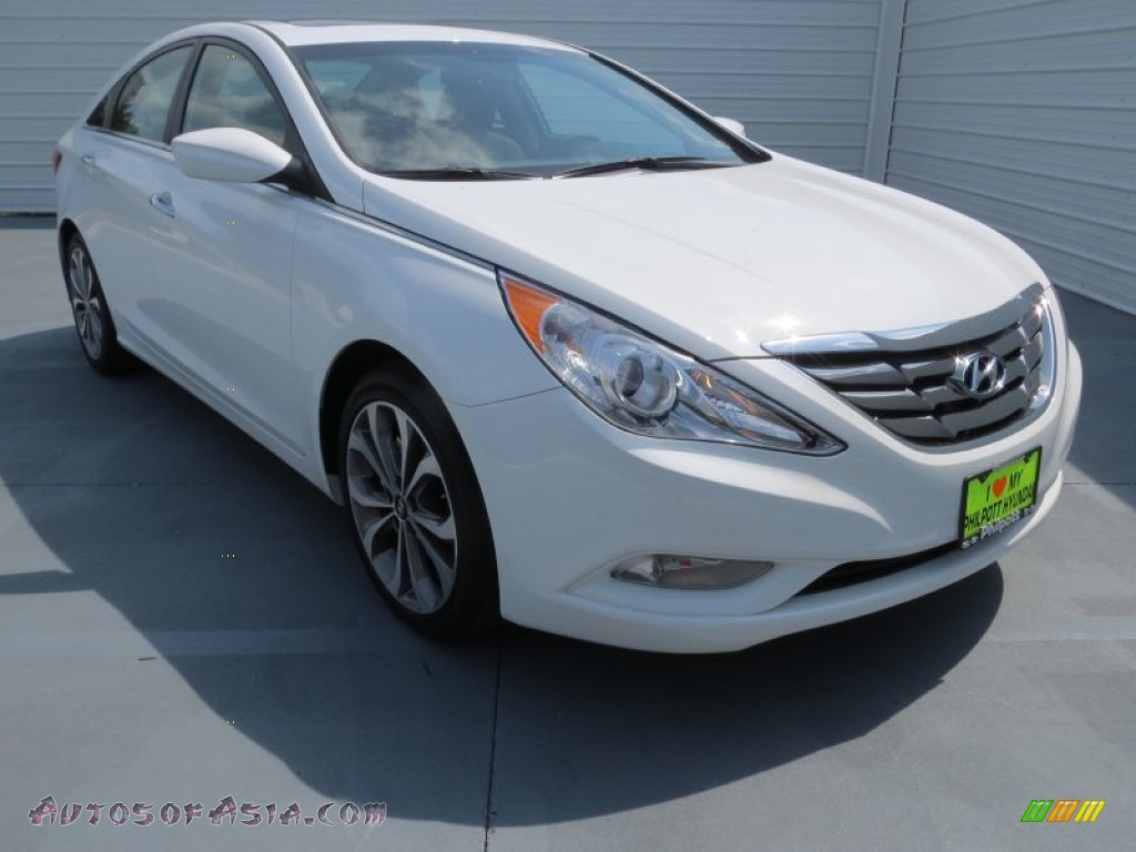 2013 hyundai sonata limited 2 0t in shimmering white 584627 autos of asia japanese and. Black Bedroom Furniture Sets. Home Design Ideas