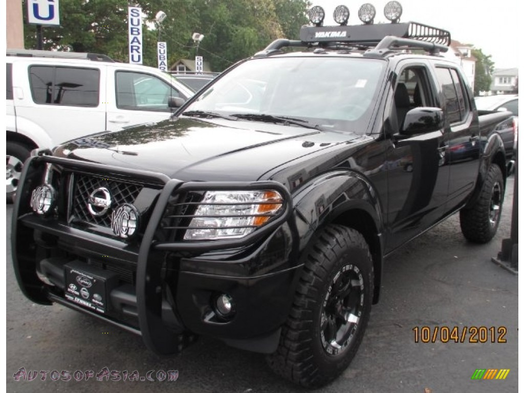 2012 nissan frontier pro 4x crew cab 4x4 in super black 419763 autos of asia japanese and. Black Bedroom Furniture Sets. Home Design Ideas