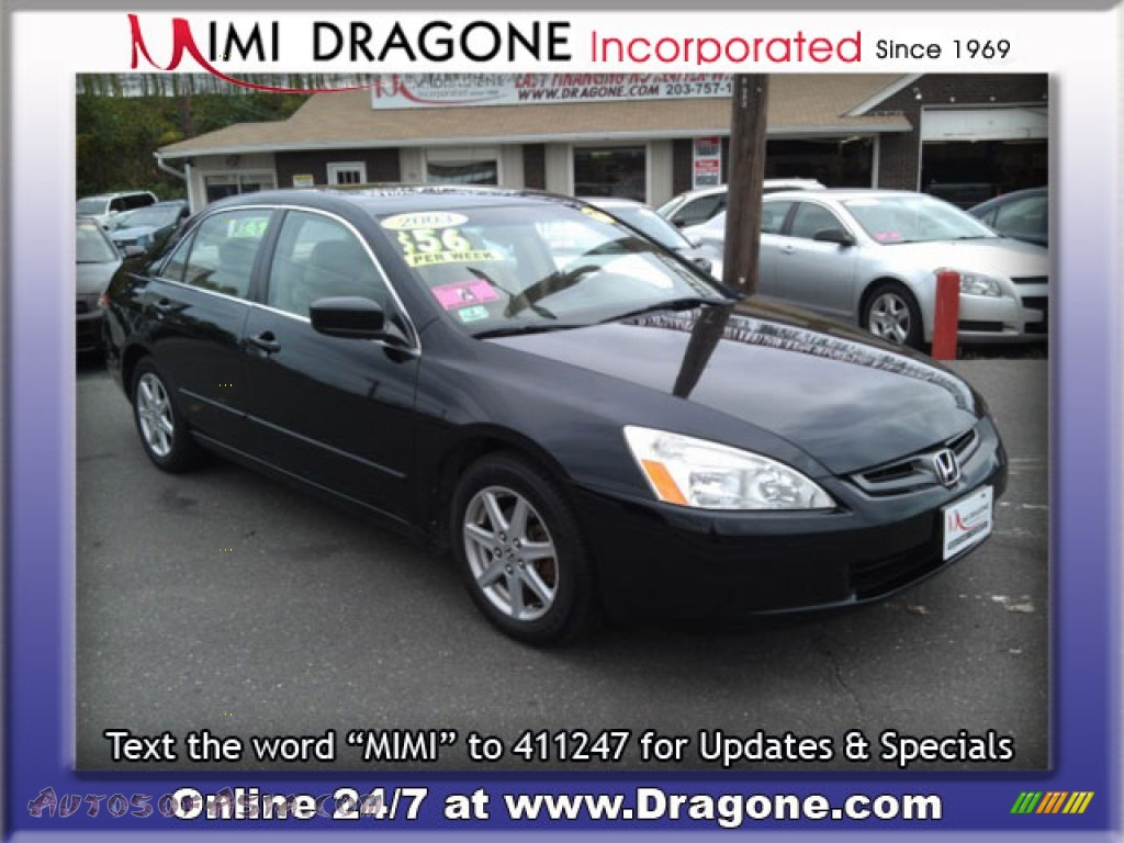 2003 Honda Accord EX V6 Sedan in Nighthawk Black Pearl photo #4 - 038765 | Autos of Asia ...