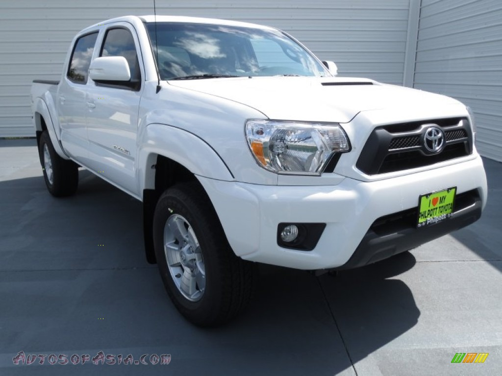 2013 toyota tacoma v6 trd sport prerunner double cab in super white 032693 autos of asia. Black Bedroom Furniture Sets. Home Design Ideas