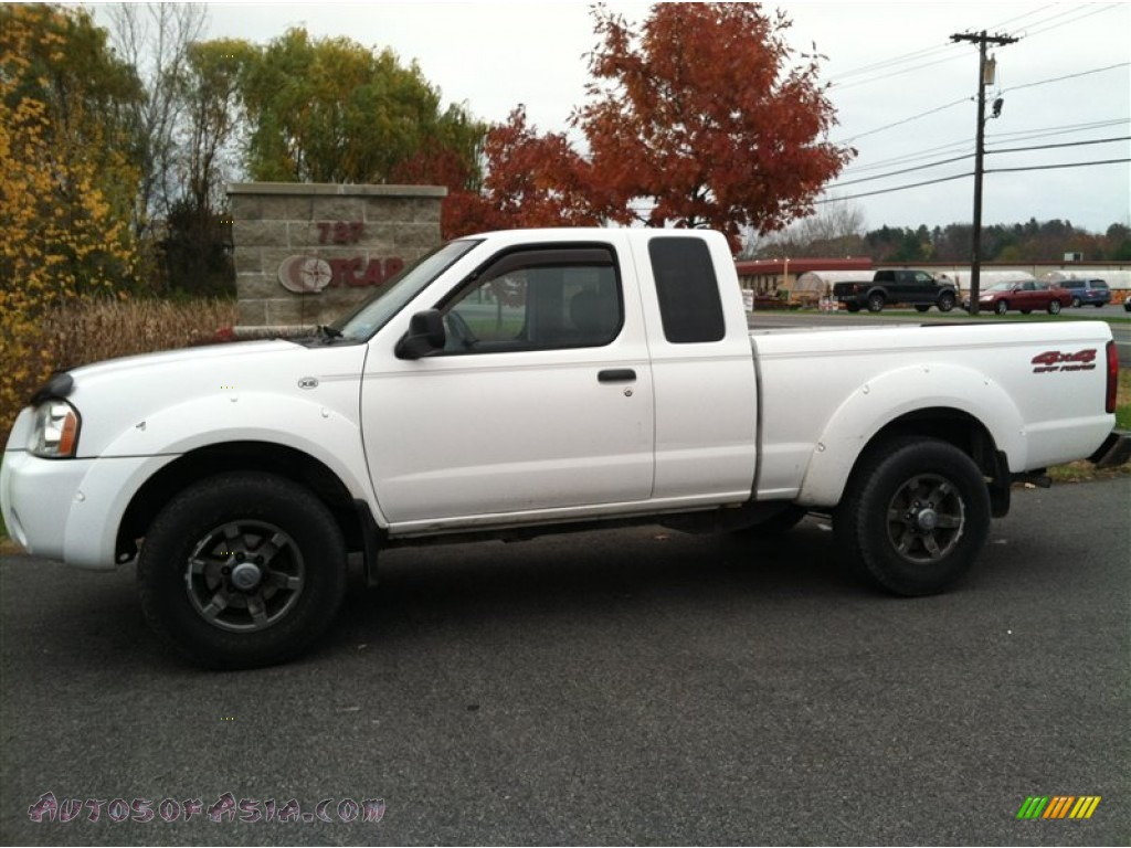 2003 nissan frontier xe v6 king cab 4x4 in avalanche white 439077 autos of asia japanese. Black Bedroom Furniture Sets. Home Design Ideas