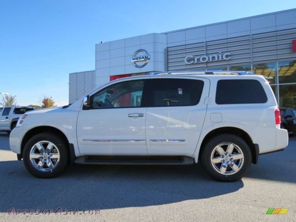 2012 nissan armada platinum in blizzard white photo 2 621842 autos of asia japanese and. Black Bedroom Furniture Sets. Home Design Ideas