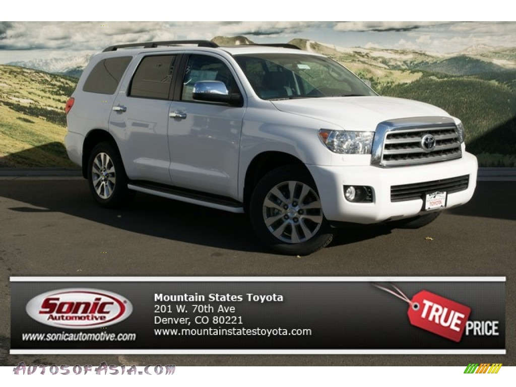 2013 toyota sequoia limited 4wd in super white 076751 autos of asia japanese and korean. Black Bedroom Furniture Sets. Home Design Ideas