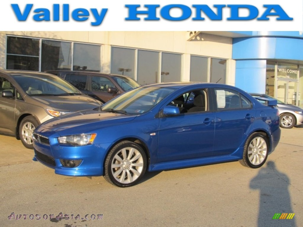2010 mitsubishi lancer gts in octane blue metallic 018573 autos of asia japanese and. Black Bedroom Furniture Sets. Home Design Ideas