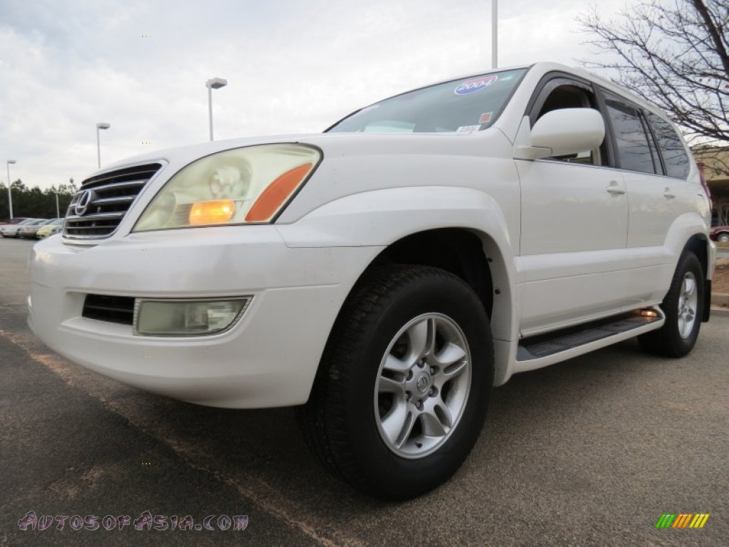 2004 lexus gx 470 in blizzard white pearl photo 2. Black Bedroom Furniture Sets. Home Design Ideas