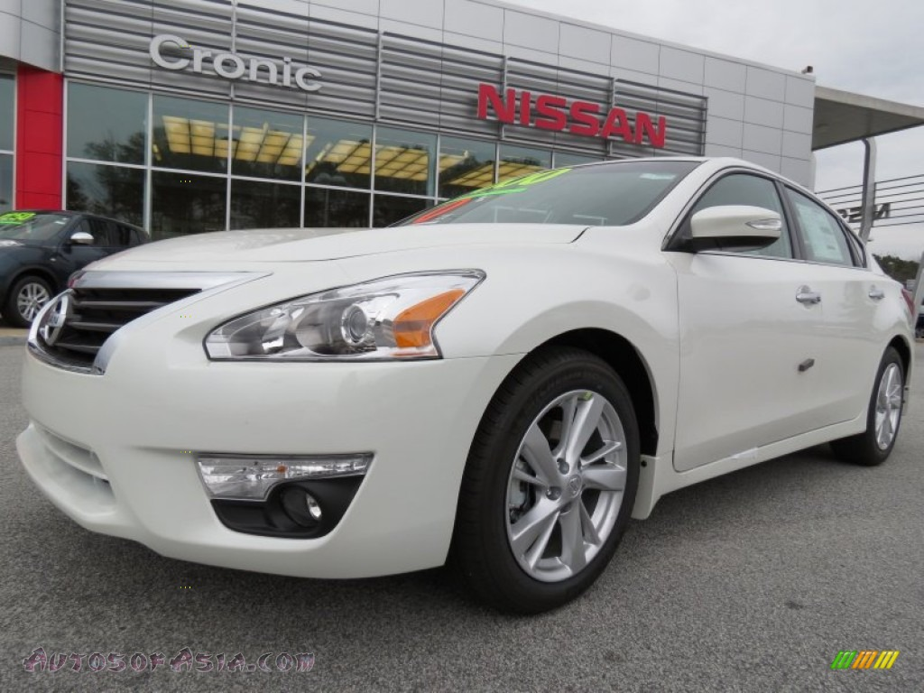 2013 nissan altima 2 5 sl in pearl white 193129 autos. Black Bedroom Furniture Sets. Home Design Ideas