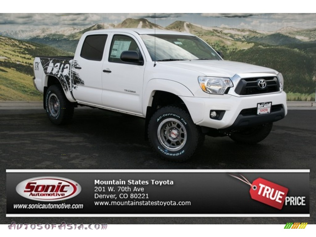 2013 toyota tacoma tx pro double cab 4x4 in super white 066268 autos of asia japanese and. Black Bedroom Furniture Sets. Home Design Ideas