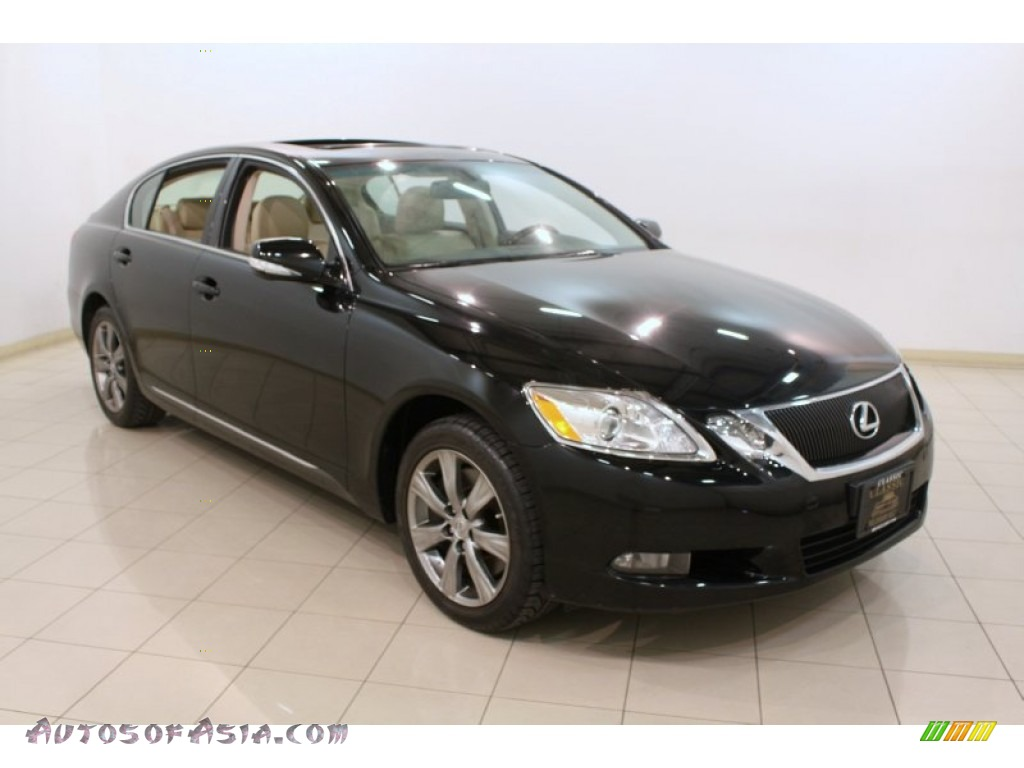 2010 lexus gs 350 awd in obsidian black 025888 autos of asia japanese and korean cars for. Black Bedroom Furniture Sets. Home Design Ideas