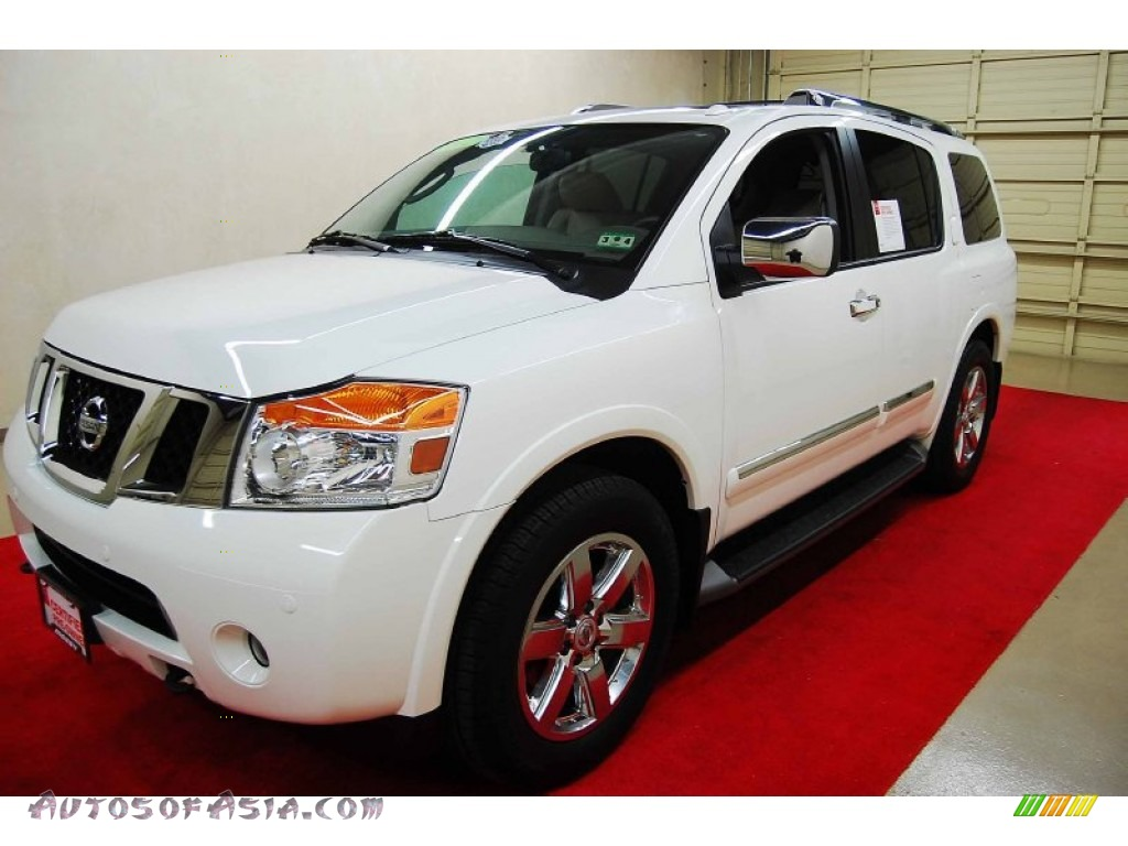 2012 nissan armada platinum in blizzard white photo 3 616033 autos of asia japanese and. Black Bedroom Furniture Sets. Home Design Ideas