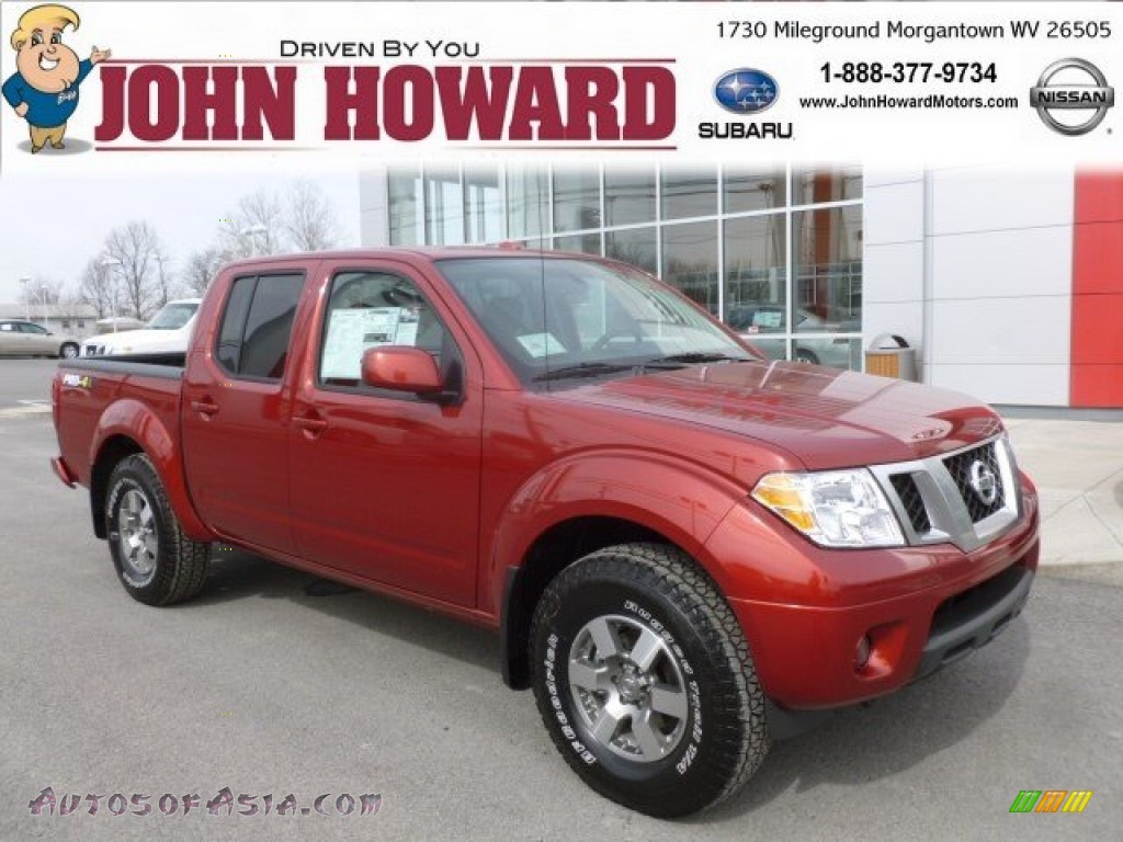 2013 Nissan Frontier Pro 4x Crew Cab 4x4 In Cayenne Red