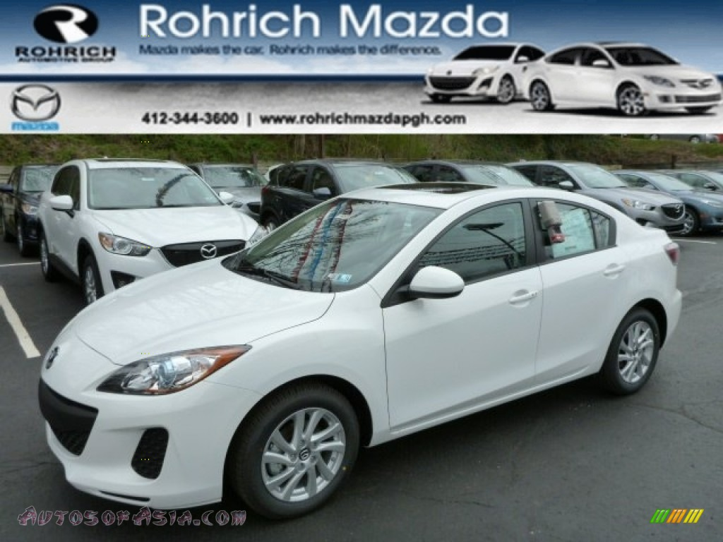 2013 mazda mazda3 i touring 4 door in crystal white pearl mica 795536 autos of asia. Black Bedroom Furniture Sets. Home Design Ideas