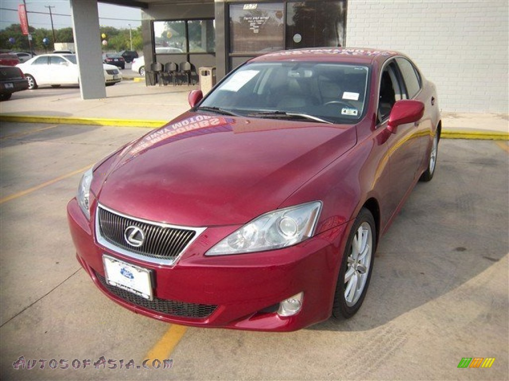 2006 lexus is 250 awd in matador red mica 004379 autos of asia japanese and korean cars. Black Bedroom Furniture Sets. Home Design Ideas