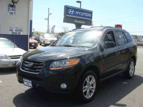 Phantom Black Metallic 2010 Hyundai Santa Fe SE