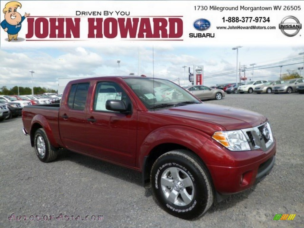 2013 nissan frontier sv v6 crew cab 4x4 in cayenne red for Mileground motors in morgantown wv