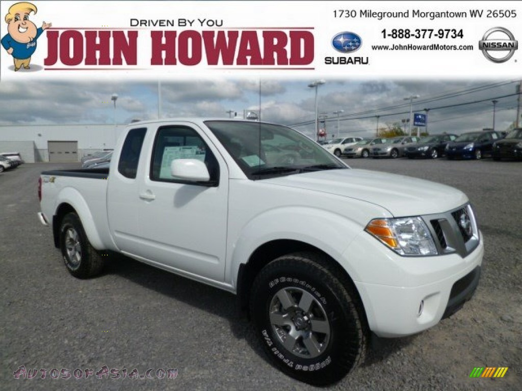 2013 nissan frontier pro 4x king cab 4x4 in glacier white 728663 autos of asia japanese. Black Bedroom Furniture Sets. Home Design Ideas