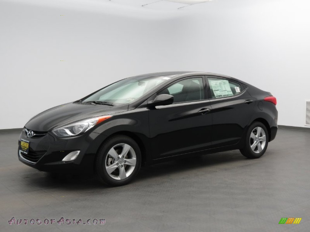 2013 Hyundai Elantra Gls In Midnight Black 341642