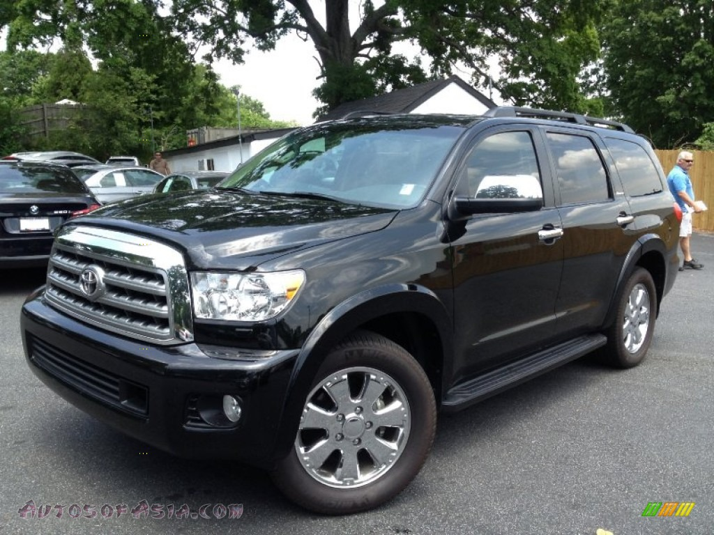 2011 toyota sequoia platinum 4wd in black 041162 autos. Black Bedroom Furniture Sets. Home Design Ideas