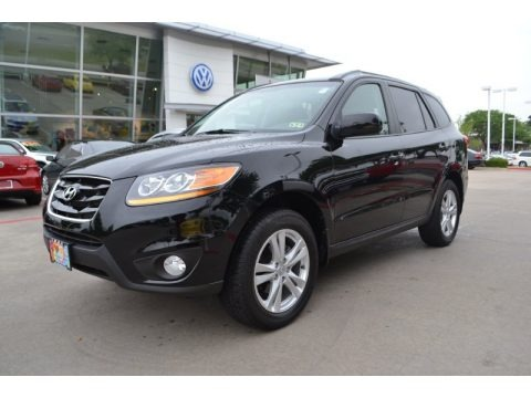 Phantom Black Metallic 2011 Hyundai Santa Fe SE
