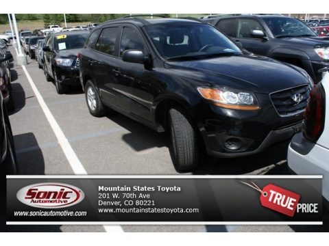 Phantom Black Metallic 2010 Hyundai Santa Fe GLS 4WD