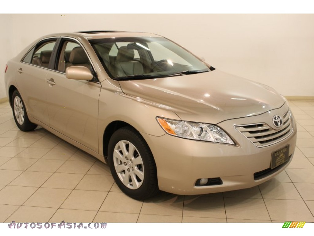 2009 toyota camry xle v6 in desert sand metallic 594991 autos of asia japanese and korean. Black Bedroom Furniture Sets. Home Design Ideas