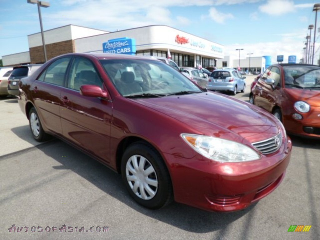 2006 toyota camry le in salsa red pearl 152326 autos of asia japanese and korean cars for. Black Bedroom Furniture Sets. Home Design Ideas