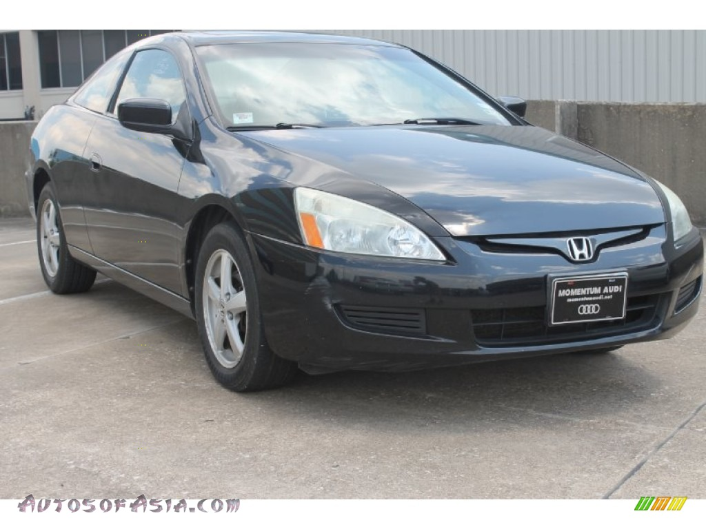 2003 honda accord ex l coupe in nighthawk black pearl 027790 autos of asia japanese and. Black Bedroom Furniture Sets. Home Design Ideas