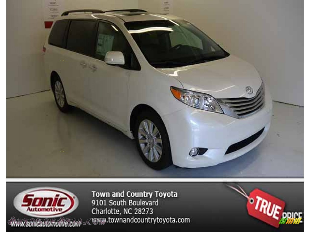 2013 toyota sienna limited awd in blizzard white pearl 063852 autos of asia japanese and. Black Bedroom Furniture Sets. Home Design Ideas