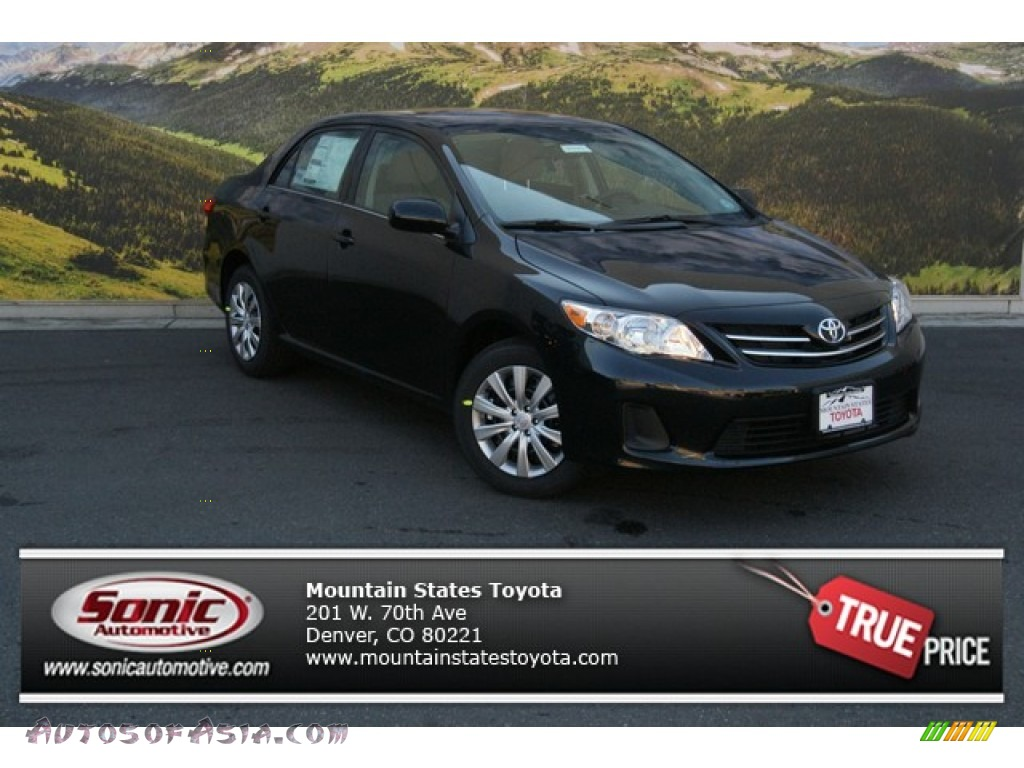 Toyota Corolla s 2013 Black 2013 Corolla le Black Sand